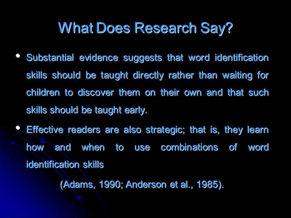(Adams, 1990; Anderson et al., 1985).