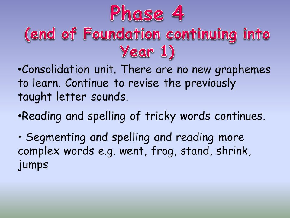 (end of Foundation continuing into Year 1)