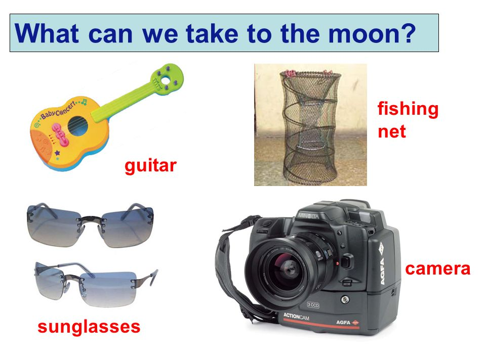What can we take to the moon
