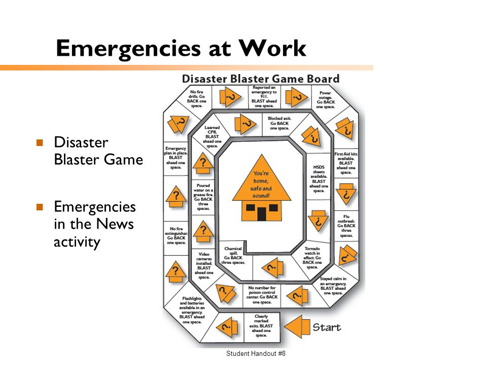 Emergencies at Work Disaster Blaster Game