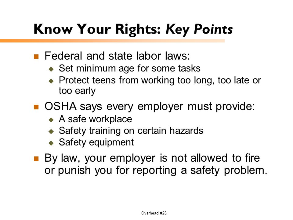 Know Your Rights: Key Points