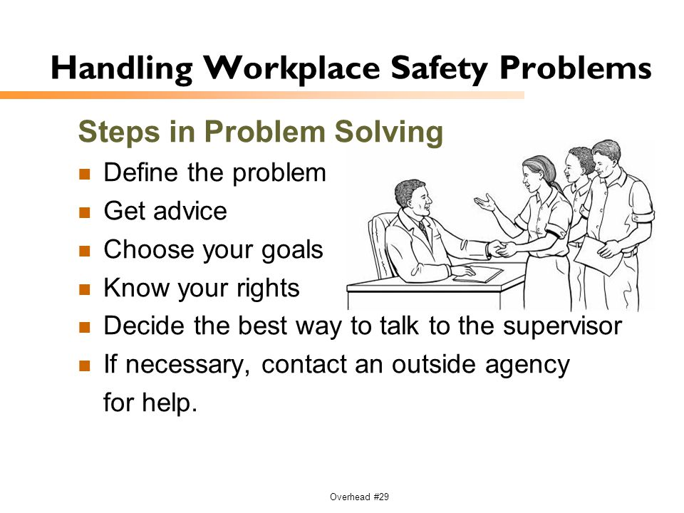 Handling Workplace Safety Problems