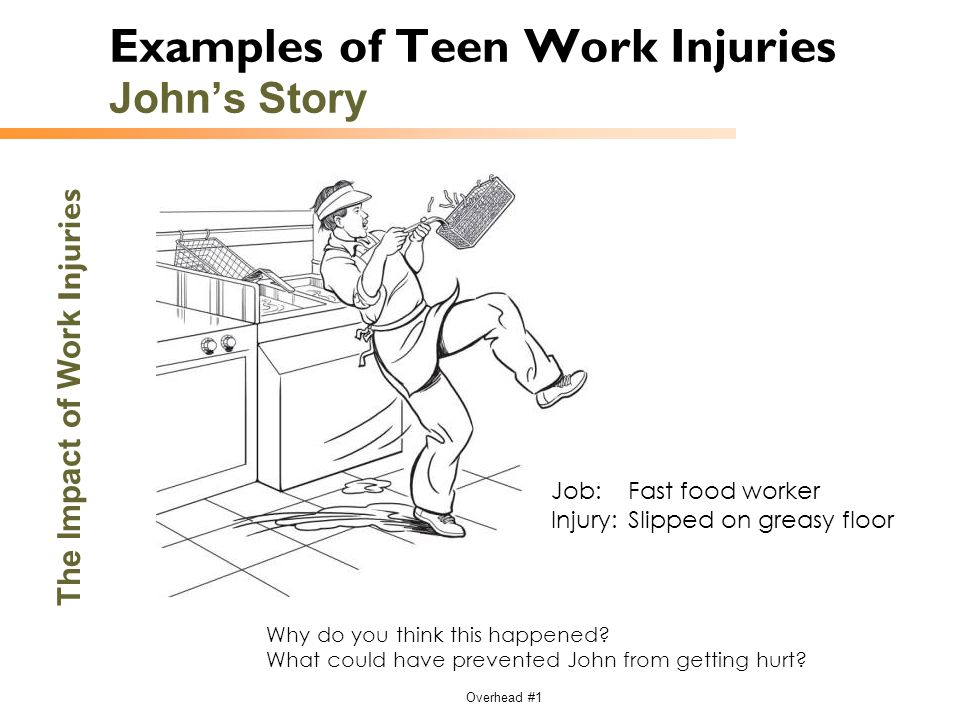 Examples of Teen Work Injuries John's Story