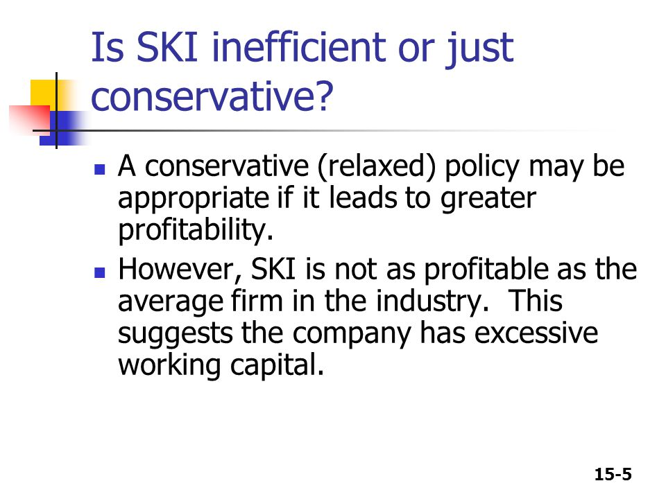 Is SKI inefficient or just conservative