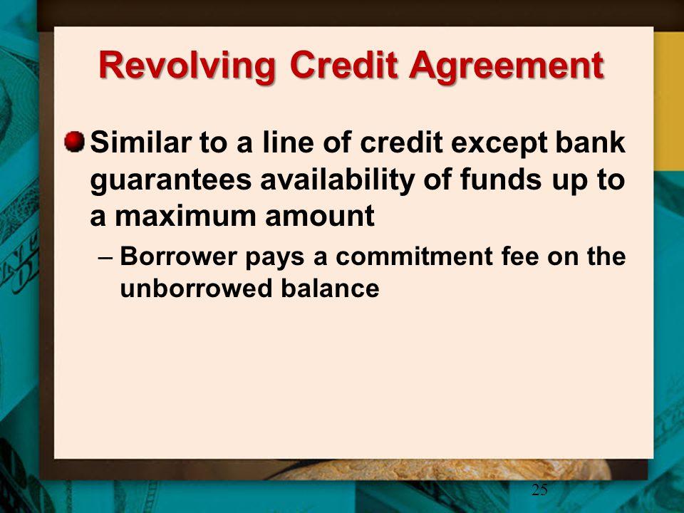 Revolving Credit Agreement