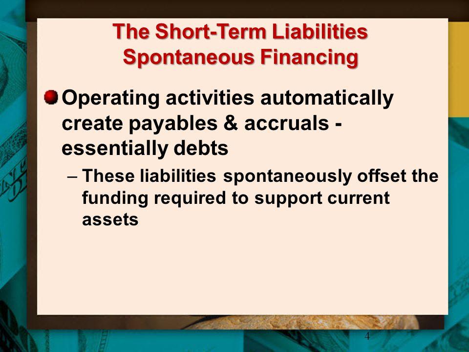 The Short-Term Liabilities Spontaneous Financing