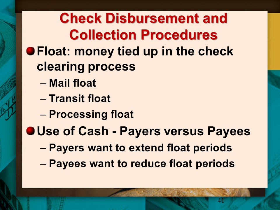 Check Disbursement and Collection Procedures