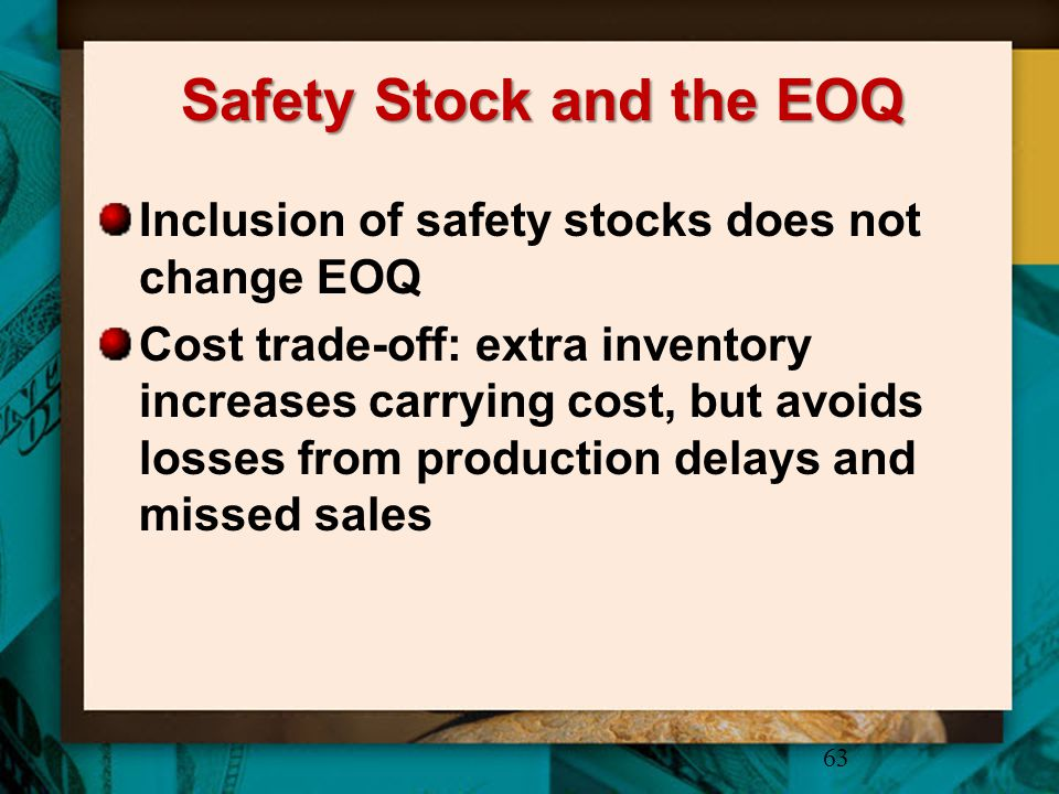 Safety Stock and the EOQ