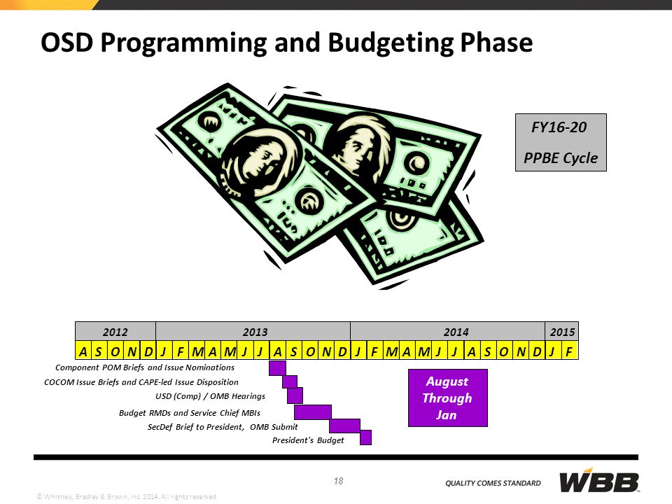 OSD Programming and Budgeting Phase