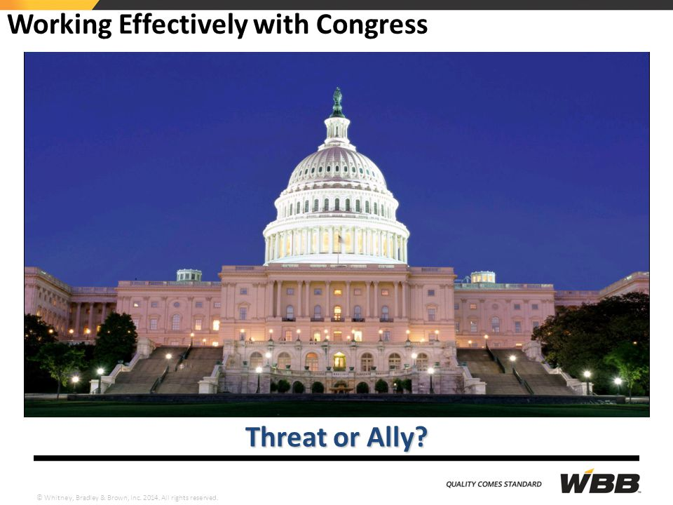 Working Effectively with Congress