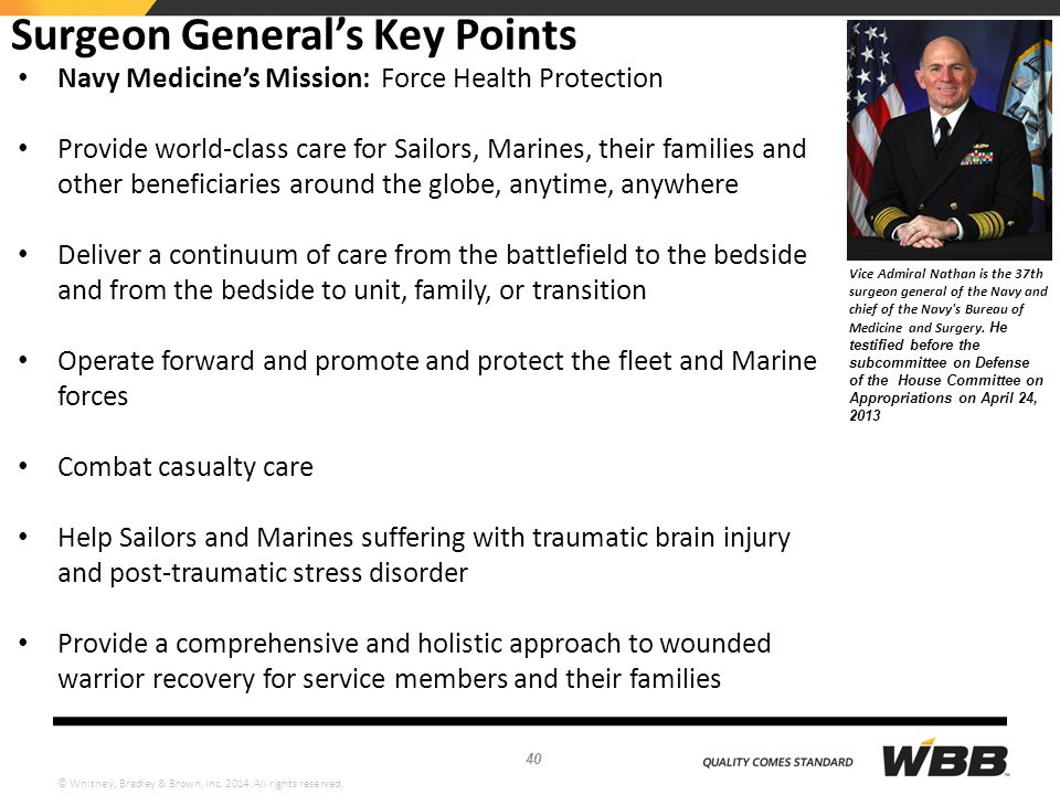 Surgeon General's Key Points