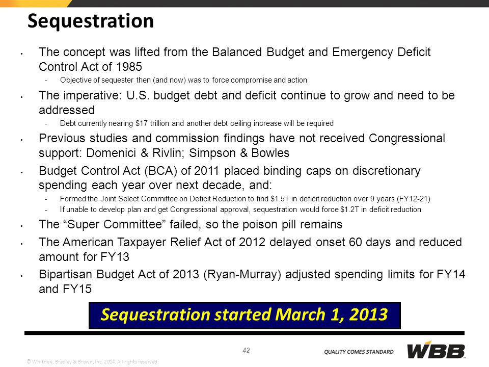Sequestration started March 1, 2013