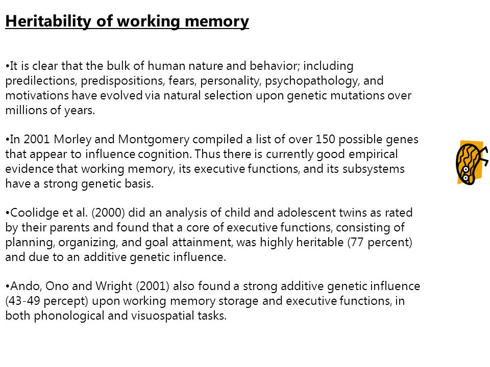 Heritability of working memory