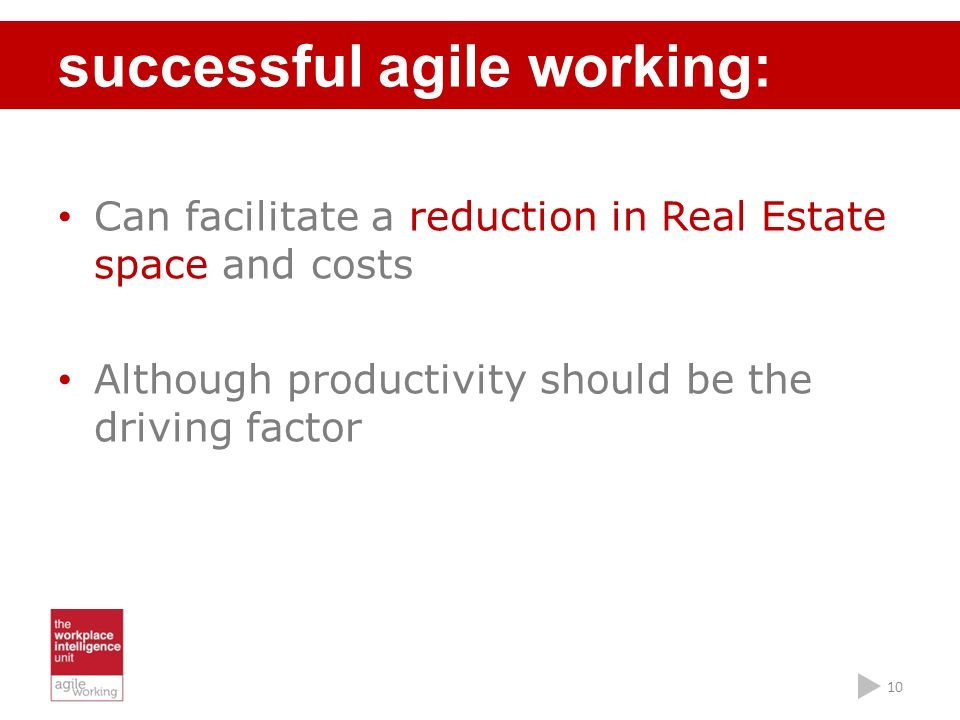 successful agile working: