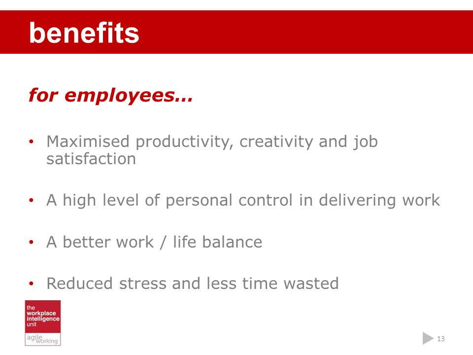 benefits for employees…