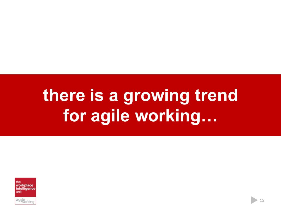 there is a growing trend for agile working…
