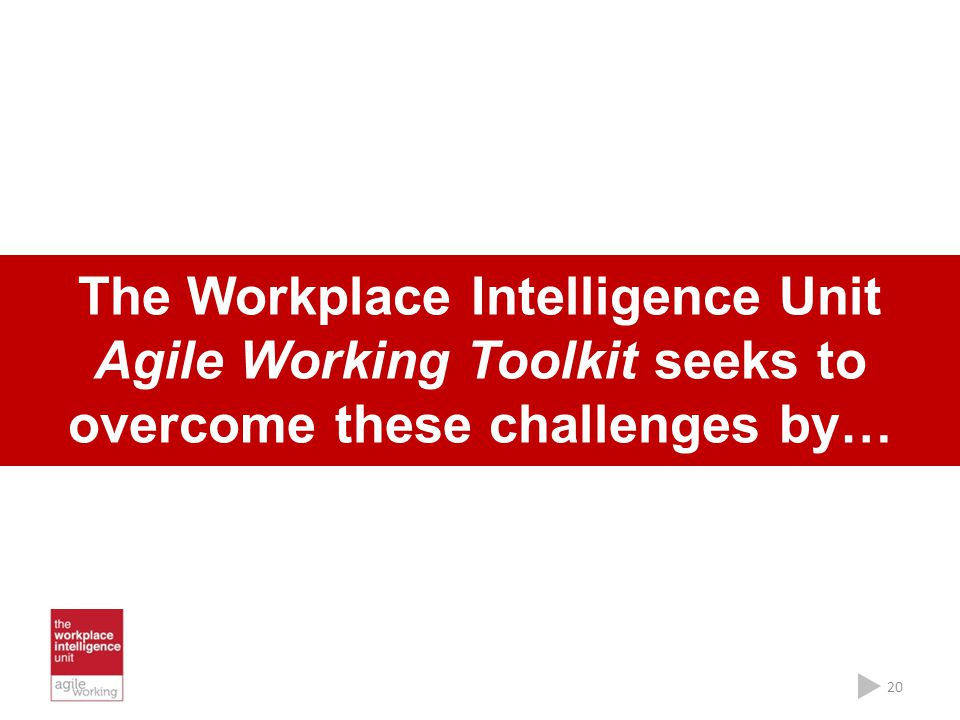 The Workplace Intelligence Unit Agile Working Toolkit seeks to overcome these challenges by…