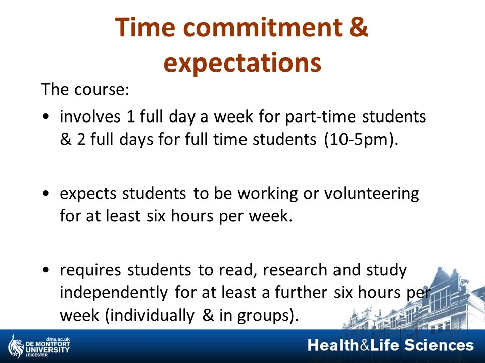 Time commitment & expectations