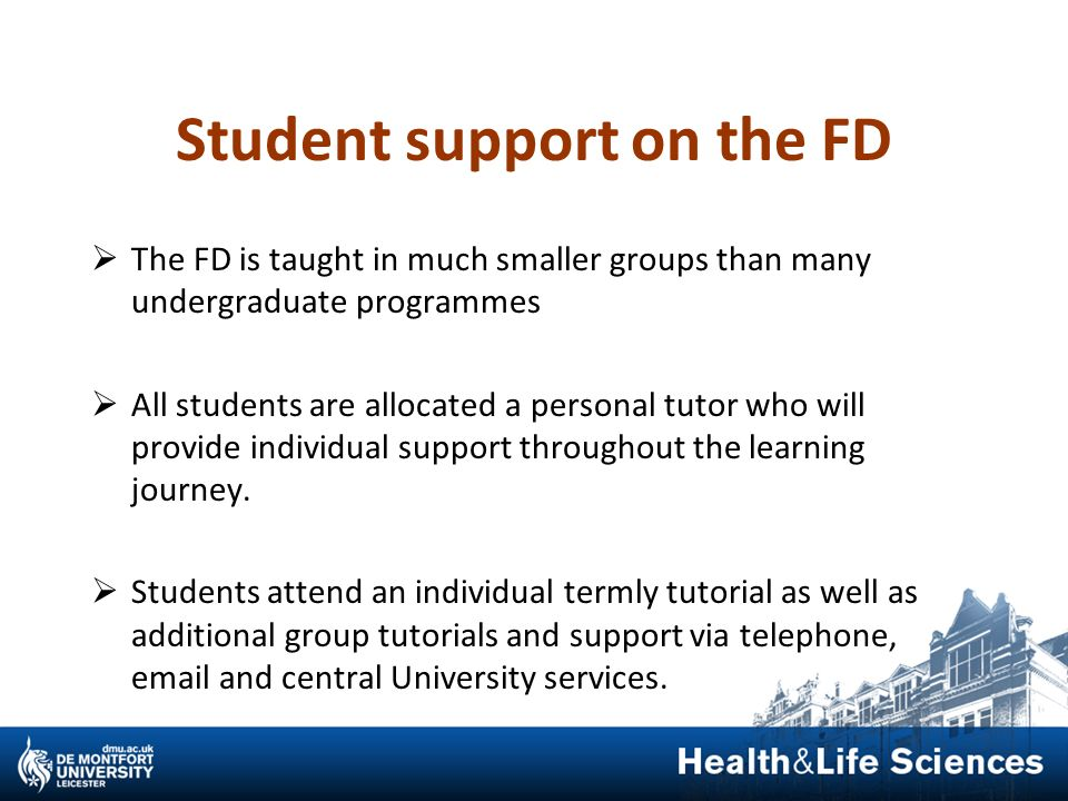 Student support on the FD