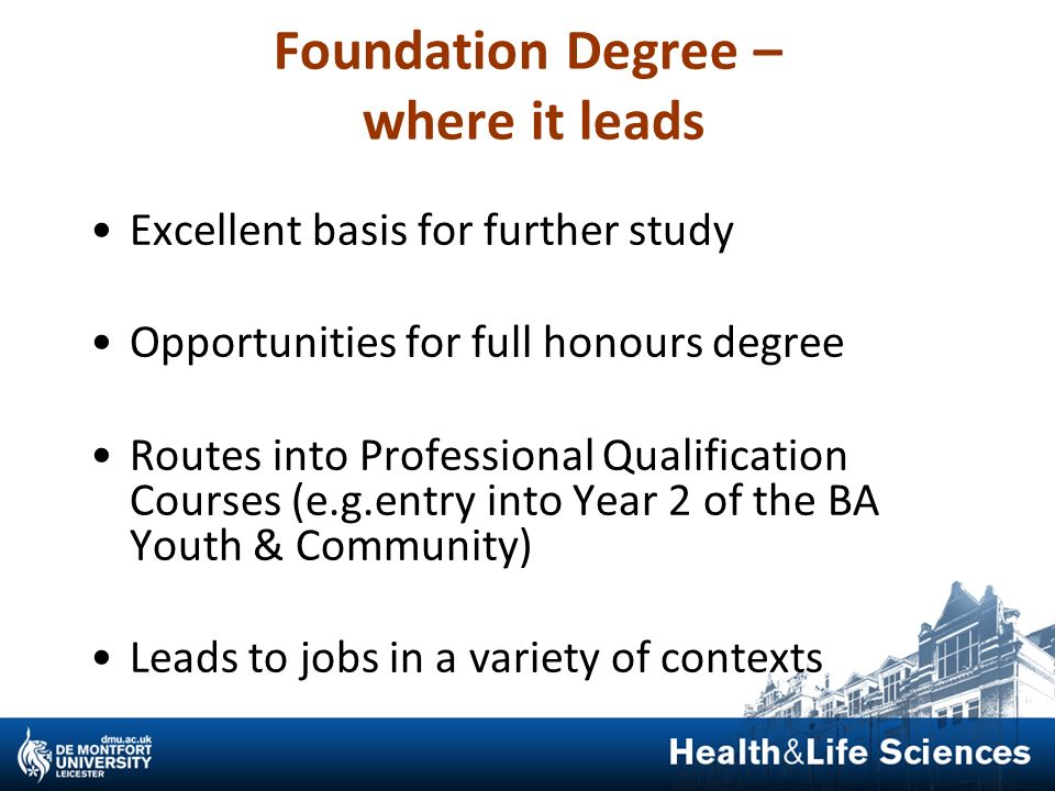Foundation Degree – where it leads