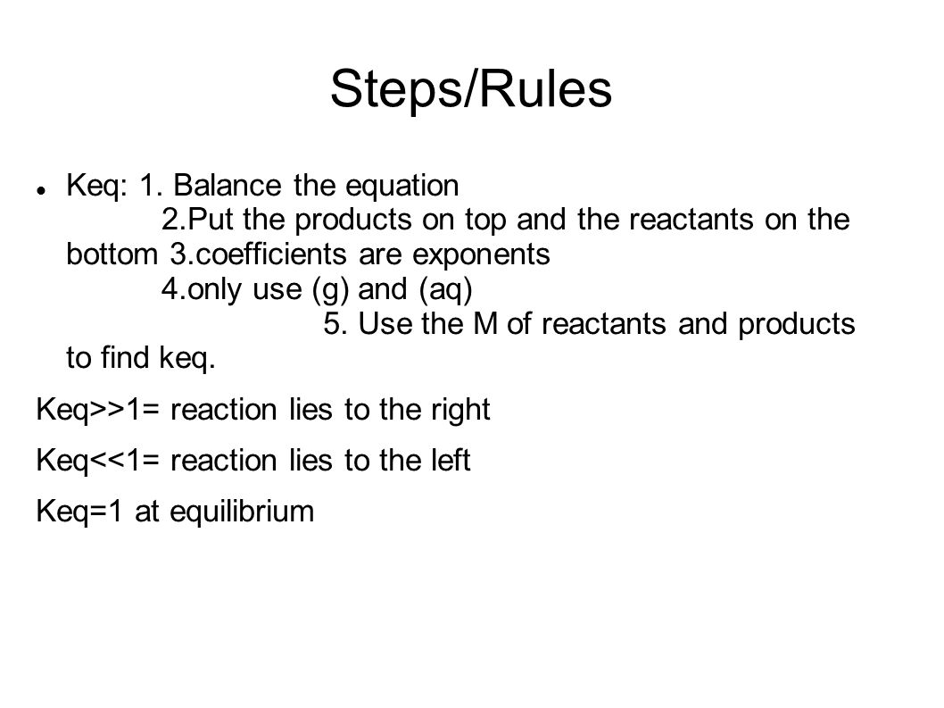 Steps/Rules