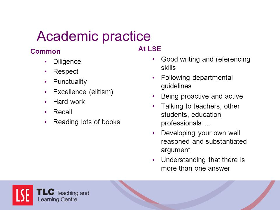 Academic practice At LSE Common Good writing and referencing skills