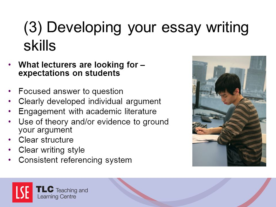 (3) Developing your essay writing skills