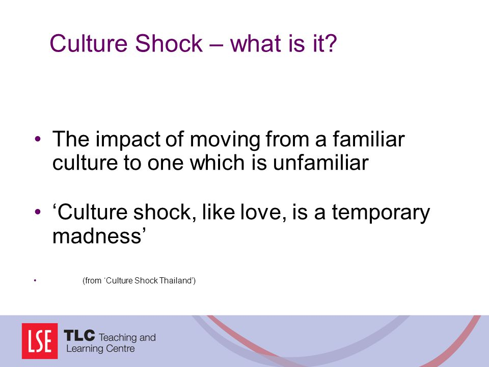 Culture Shock – what is it