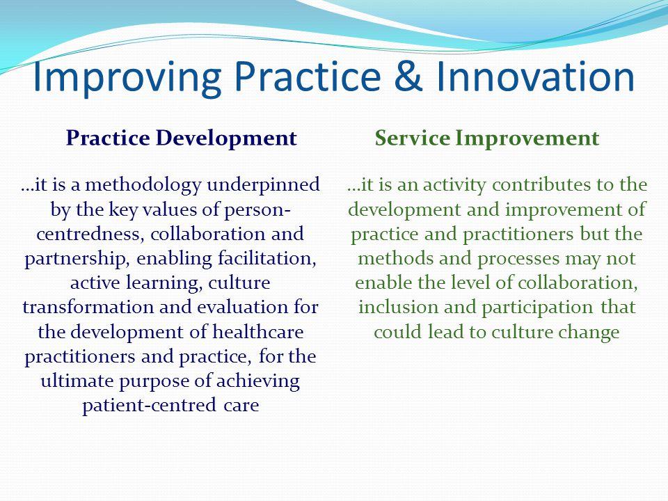 Improving Practice & Innovation