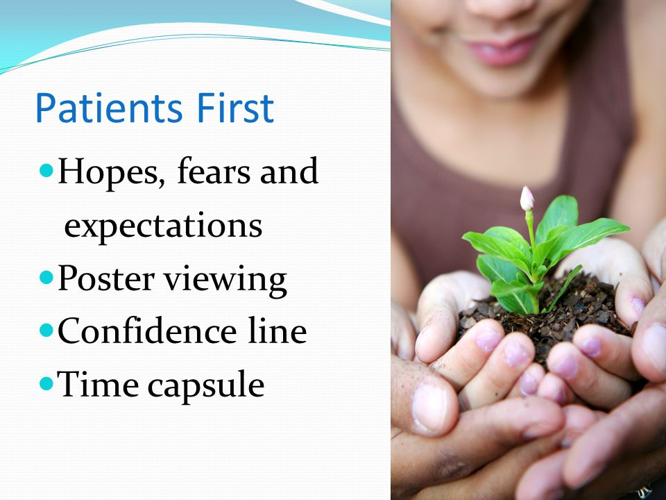 Patients First Hopes, fears and expectations Poster viewing