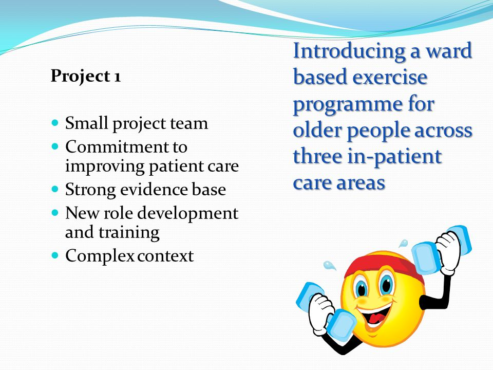 Introducing a ward based exercise programme for older people across three in-patient care areas