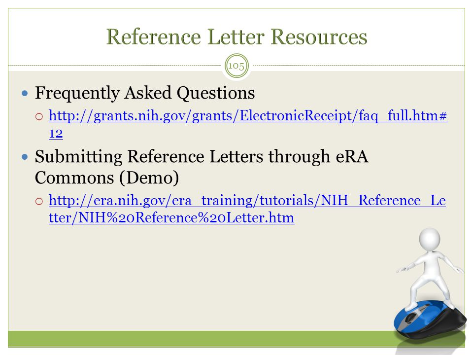 Reference Letter Resources