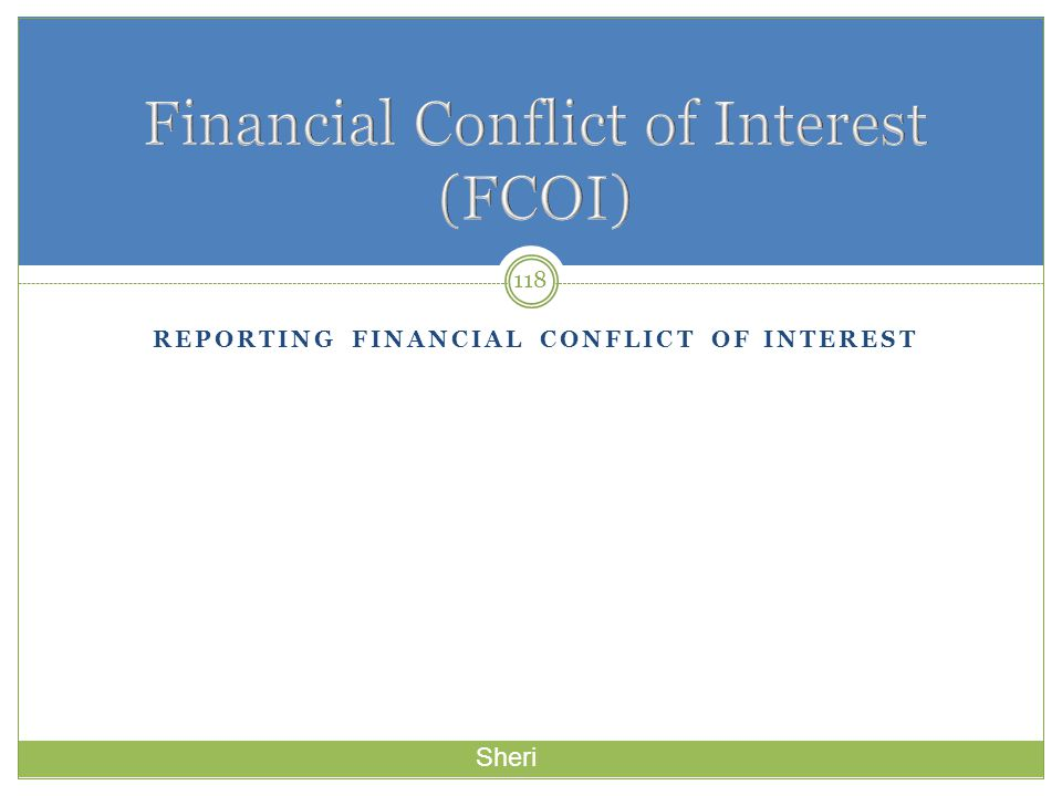 Financial Conflict of Interest (FCOI)