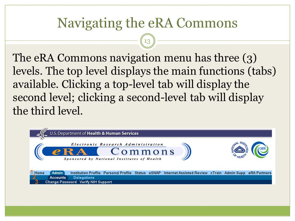 Navigating the eRA Commons