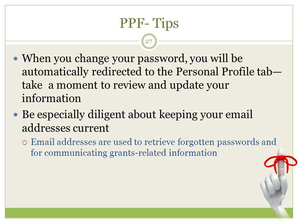 PPF- Tips