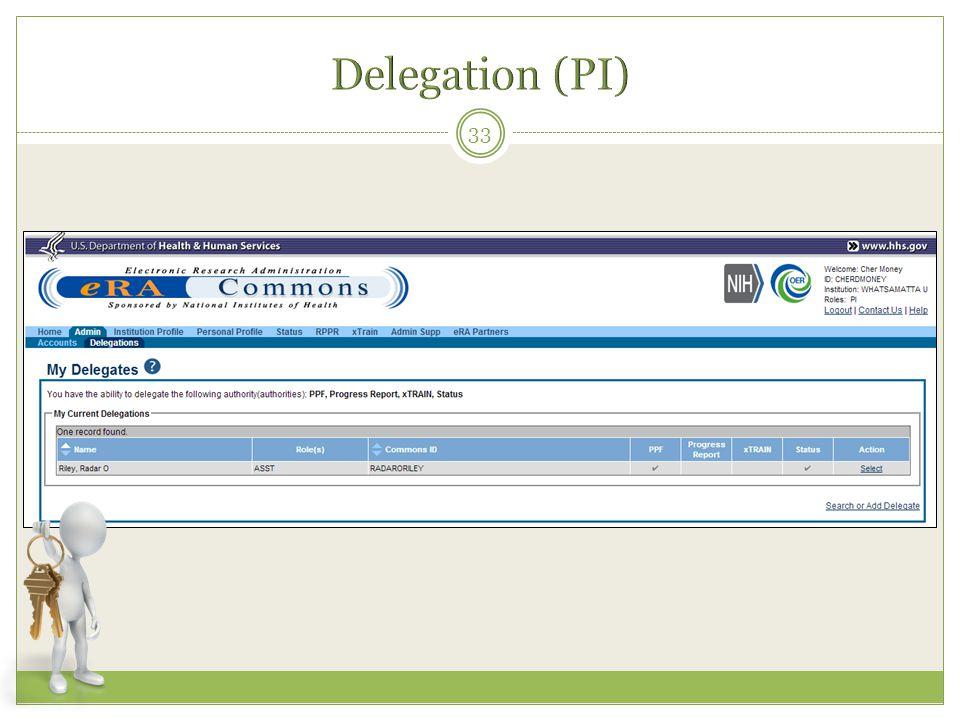 Delegation (PI)