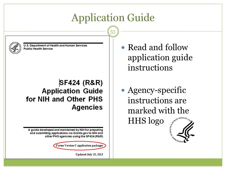 Application Guide Read and follow application guide instructions