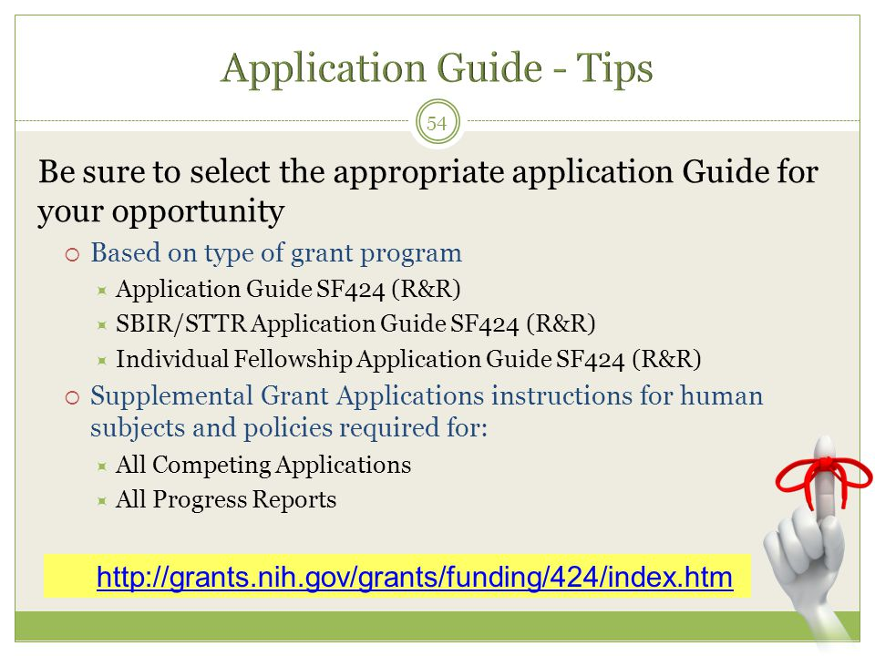Application Guide - Tips