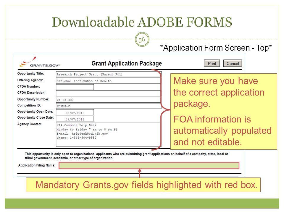 Downloadable ADOBE FORMS
