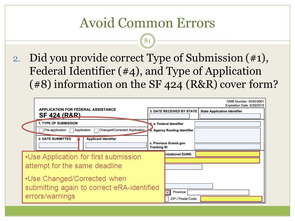 Avoid Common Errors
