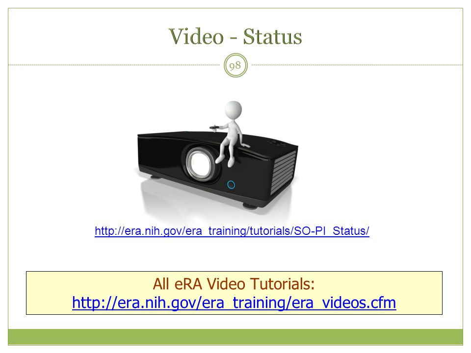 All eRA Video Tutorials: