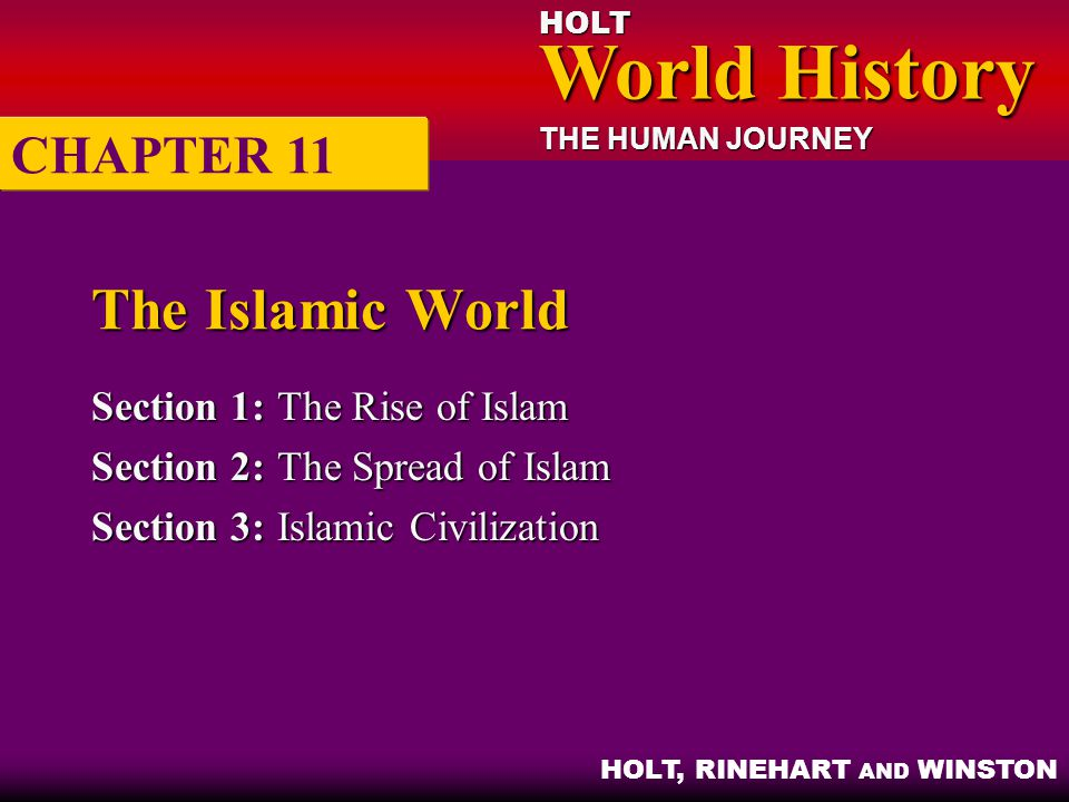 The Islamic World CHAPTER 11 Section 1: The Rise of Islam