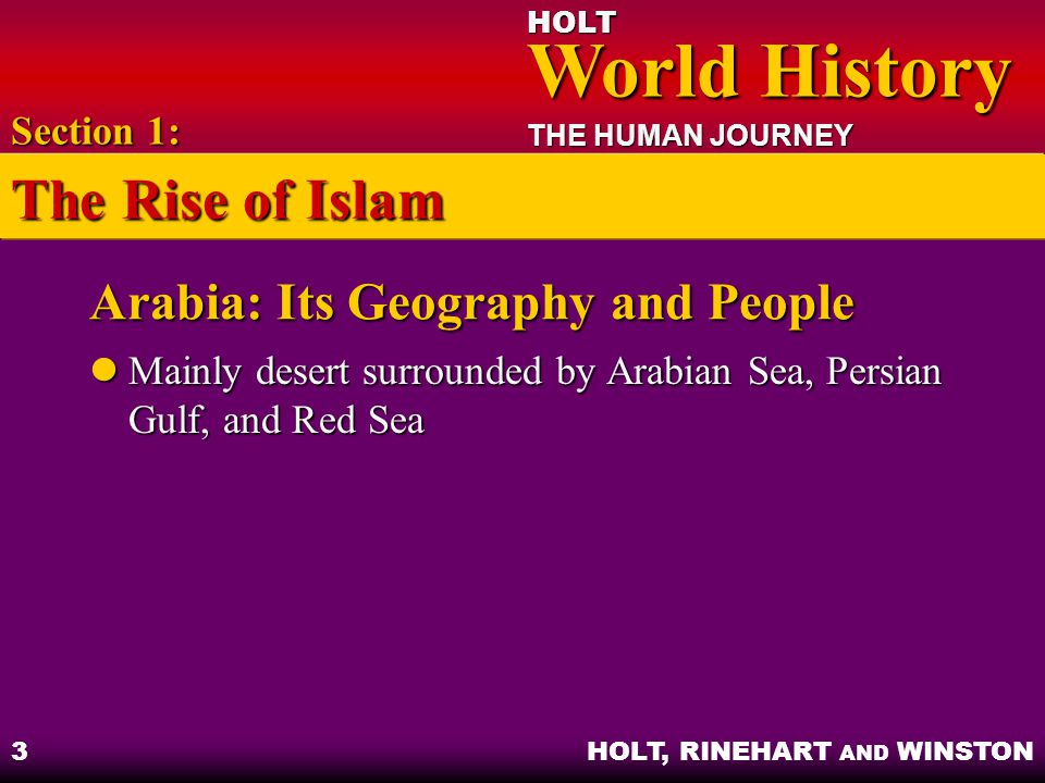 Arabia: Its Geography and People