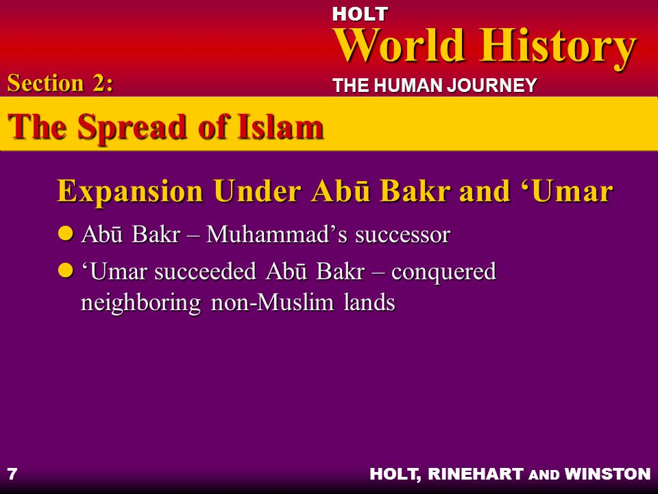 Expansion Under Abū Bakr and 'Umar