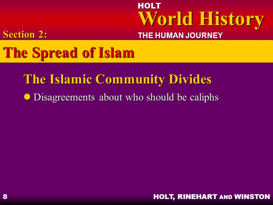 The Islamic Community Divides