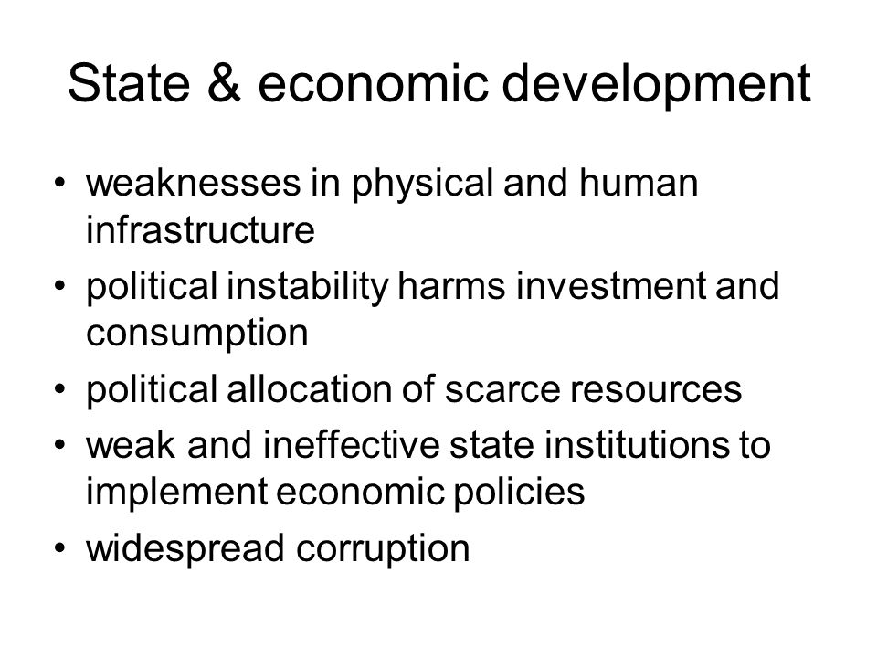 State & economic development