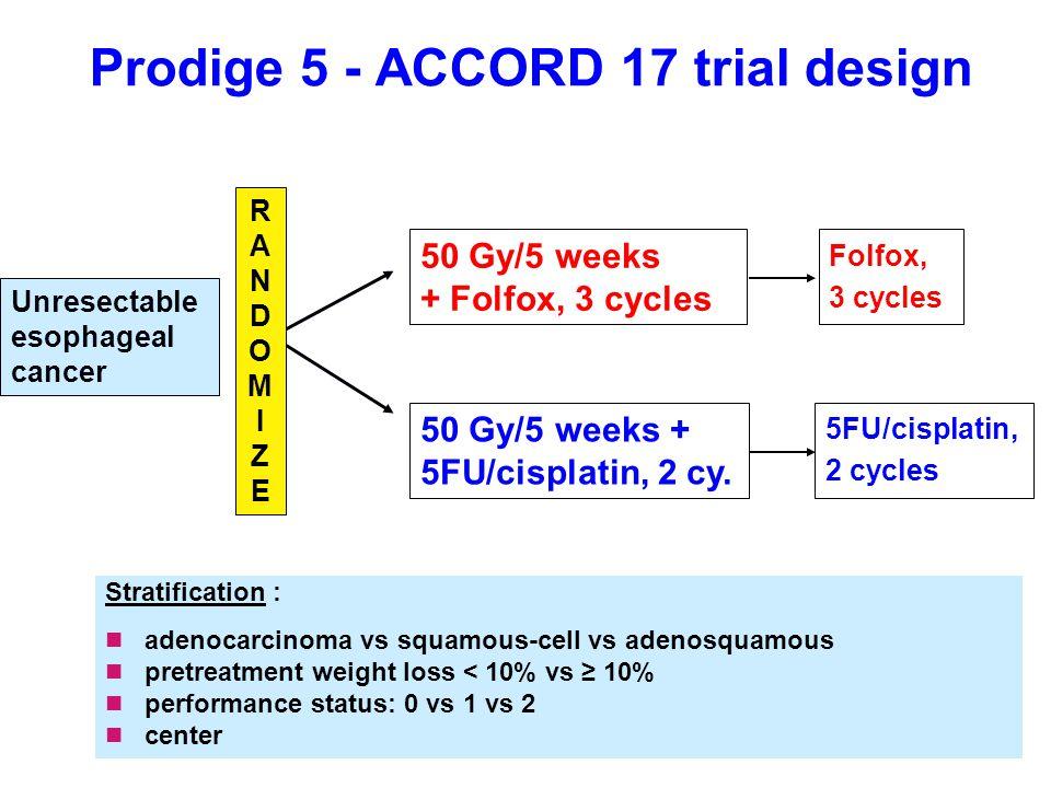 Prodige 5 - ACCORD 17 trial design