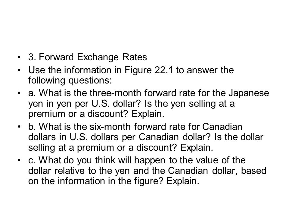 3. Forward Exchange Rates