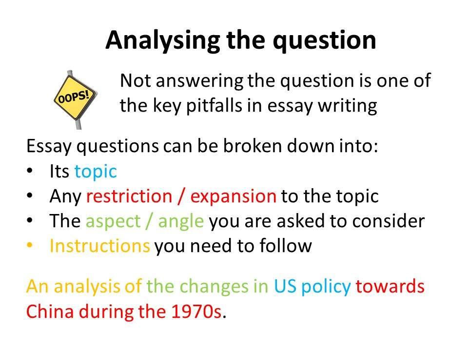 Analysing the question