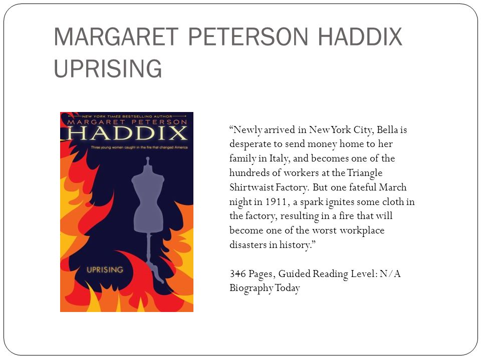 MARGARET PETERSON HADDIX UPRISING